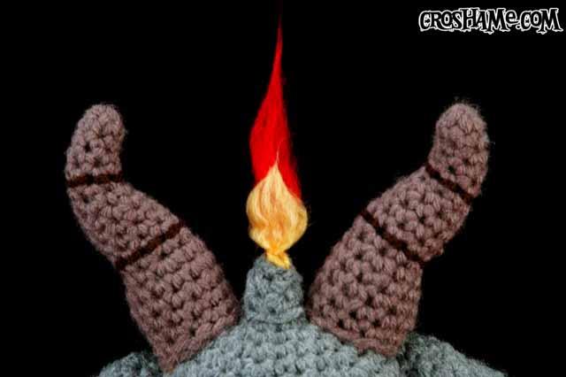 Baphometsy flame closeup