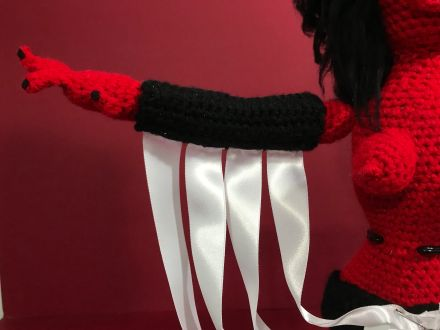 red Kembra arm ribbons
